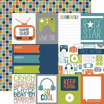 Game On Journaling Paper - Shop and Crop Scrapbooking