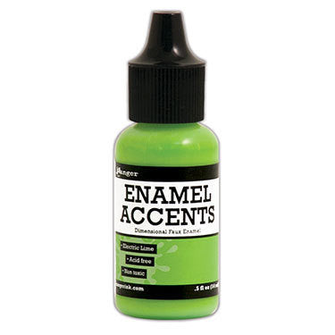 Enamel Accents - Electric Lime - Shop and Crop Scrapbooking
