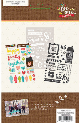 Simple Stories - We Are Family Collection - Photo Stickers - Shop and Crop Scrapbooking