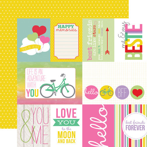 Echo Park Best Friends Forever Journaling Paper - Shop and Crop Scrapbooking