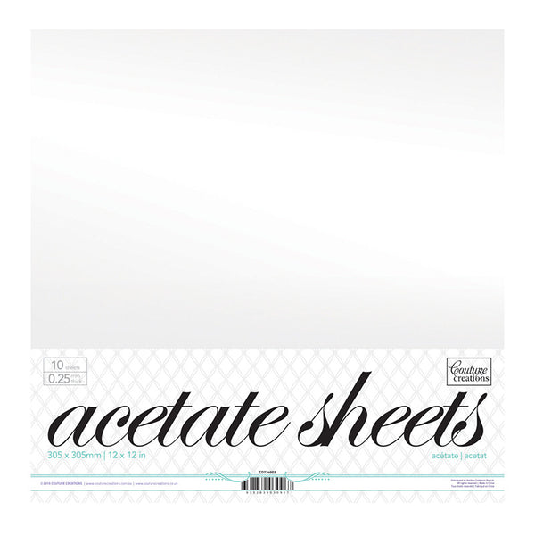 Couture Creations - 12x12 inch Acetate Sheets (10 pack) - Shop and Crop Scrapbooking