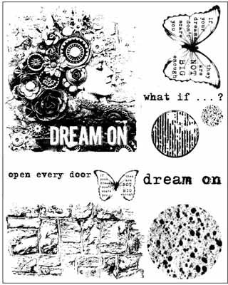 Finn Cling Stamp-6X7.5 Cling Stamp-Dream On - Shop and Crop Scrapbooking