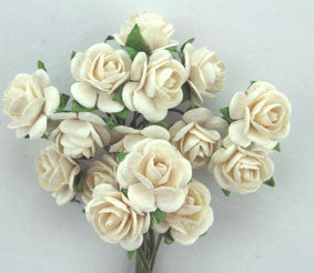 1.5cm White Roses - 10 stems - Shop and Crop Scrapbooking