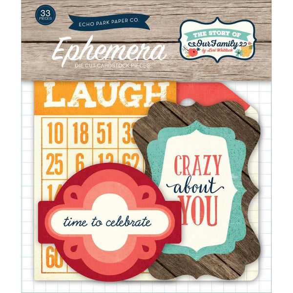 The Story Of Our Family Ephemera Cardstock Die-Cuts - Shop and Crop Scrapbooking
