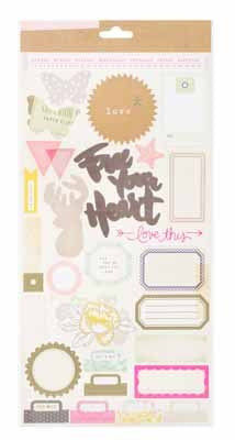 Notes & Things - 6 x 12 - Journaling & Tile Stickrs- 2 Sheets - Shop and Crop Scrapbooking