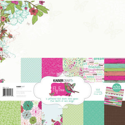 Fly Free Paper Pack with Bonus Sticker Sheet - Shop and Crop Scrapbooking