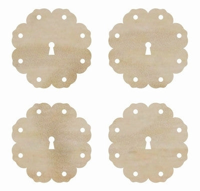 Wooden Flourish Pack Scallop Locks FL547 - Shop and Crop Scrapbooking