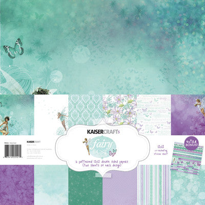 Fairy Dust Paper Pack with Bonus Sticker Sheet - Shop and Crop Scrapbooking