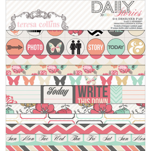 "Teresa Collins - Daily Paper Pad 6""X6"" - Shop and Crop Scrapbooking"