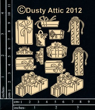 Dusty Attic- Mini Presents - Shop and Crop Scrapbooking