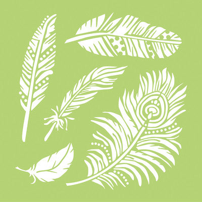 Kaisercraft 12x12 Designer Template Feathers - Shop and Crop Scrapbooking