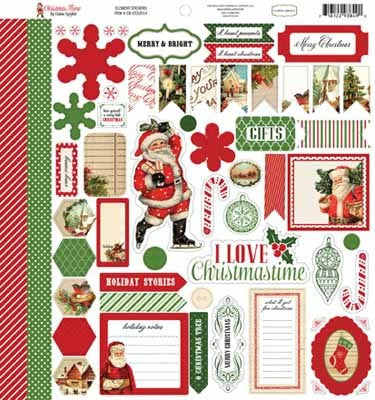 Christmas Time-Christmas Time Sticker Sheet - Shop and Crop Scrapbooking