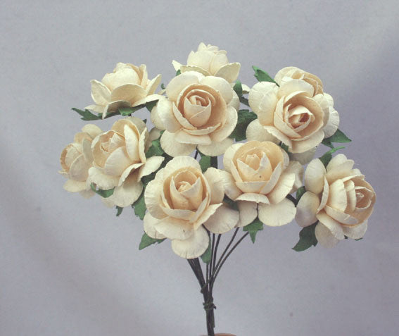 Roses 3cm Ivory - Shop and Crop Scrapbooking