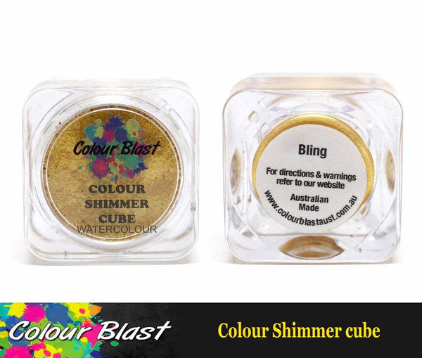 Colour Shimmer Cube - Watercolour - Bling