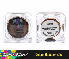Colour Shimmer Cube - Watercolour - leather