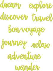 Decorative Die Travel Word Pack