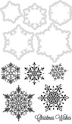 Kaisercraft Decorative Die & Stamp Snowflakes
