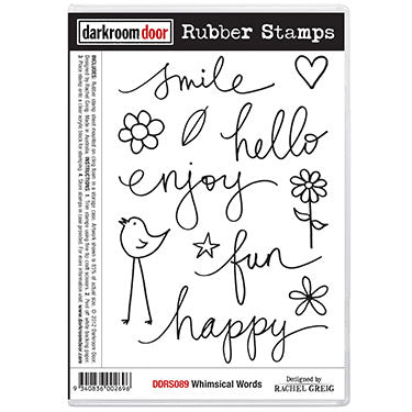 Rubber Stamp Set - Whimsical Words