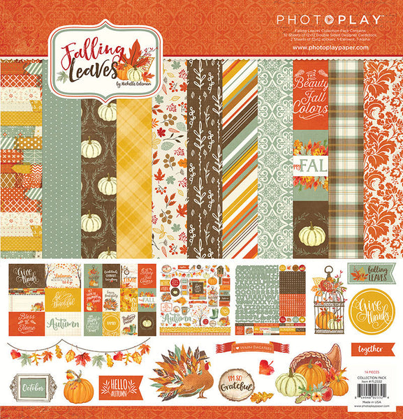 "Photo PlayFalling Leaves  Collection Pack 12""X12"" - Shop and Crop Scrapbooking"