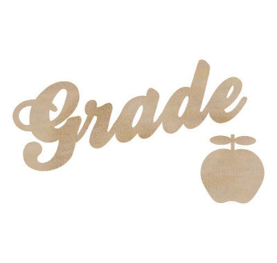 Grade Wood Flourish - Shop and Crop Scrapbooking