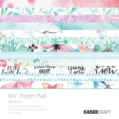Kaisercraft 6.5 x 6.5 Wildflower Paper Pad
