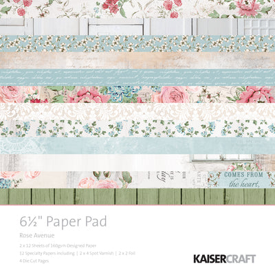 Kaisercraft 6.5 x 6.5 Rose Avenue Paper Pad