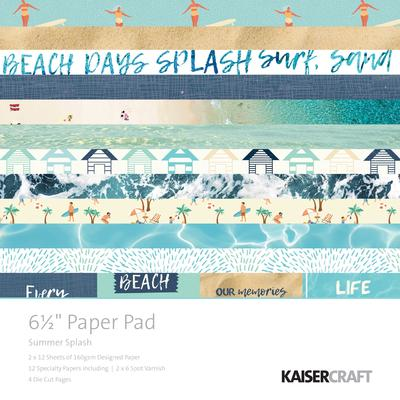 "Kaisercraft Summer Splash 6.5"" Paper Pad"