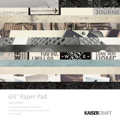 Kaisercraft 6.5 x 6.5 Just Landed Paper Pad