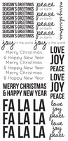 Seasons Greetings Clear Stickers - ST921