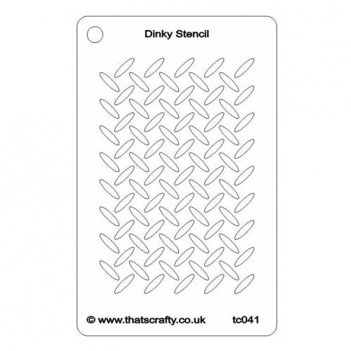 "That's Crafty Dinky Stencil 3""X4.75"" - Metal Grid Background"