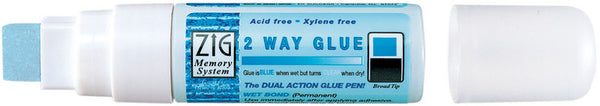 Zig 2 Way Glue Pen - Broad 15mm - Shop and Crop Scrapbooking
