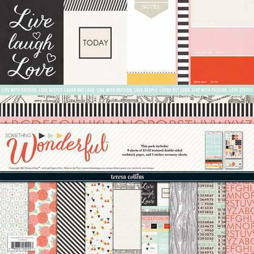 Teresa Collins Designs - Something Wonderful Collection - 12 x 12 Collection Pack - Shop and Crop Scrapbooking