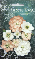 RUST Fantasy Blooms - Pack of 8 Co-ordinated Flowers