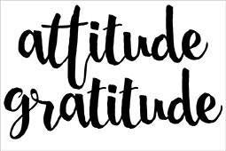Kinder Kreations - ATTITUDE  GRATITUDE  Chipboard - Shop and Crop Scrapbooking