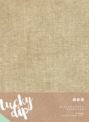 Kaisercraft Burlap Sheets 10 sheets - Shop and Crop Scrapbooking