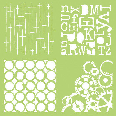 Kaisercraft-12x12 Designer Template Grunge - Shop and Crop Scrapbooking