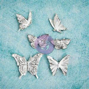 Prima - Shabby Chic Treasures Collection - Ingvild Bolme - Resin Embellishments - Butterflies