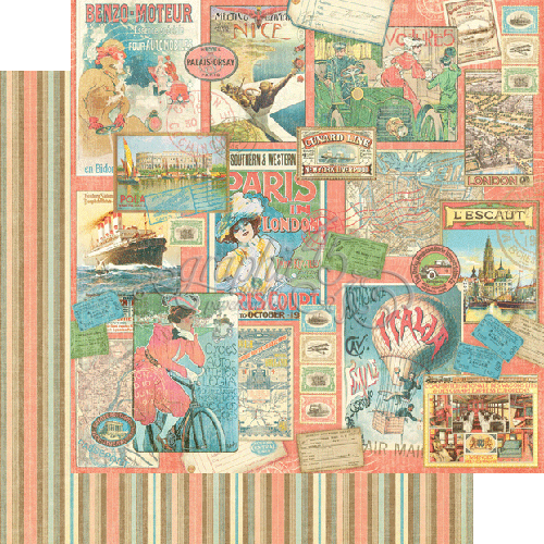 Pleasure Trip paper - Shop and Crop Scrapbooking