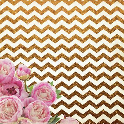 All That Glitters 12x12 Specialty Paper - Chevron Glitter - Shop and Crop Scrapbooking