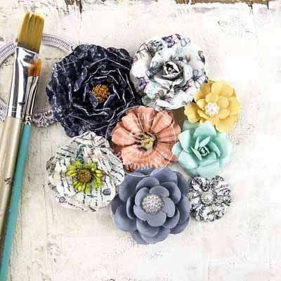 Prima Epiphany - Bombshellrima Flowers - Shop and Crop Scrapbooking