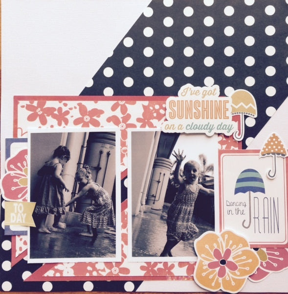 Dancing In The Rain Scrap N Go Kit - Shop and Crop Scrapbooking