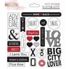 Black & White Puffy Stickers - Shop and Crop Scrapbooking