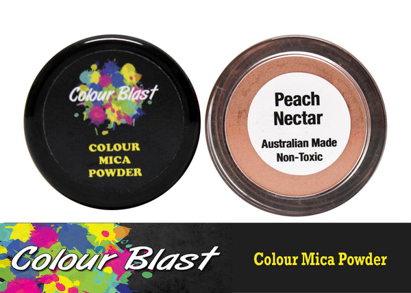 Colour Mica Powder - Peach Necter - Shop and Crop Scrapbooking
