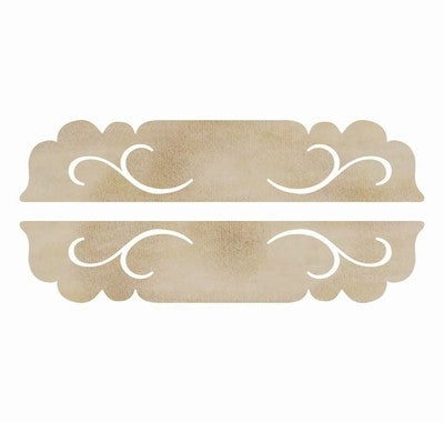 Wooden Flourish Pack Long Door Plaques FL541 - Shop and Crop Scrapbooking