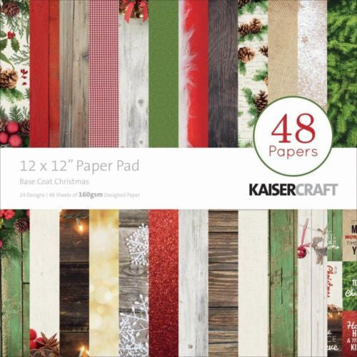 Kaisecraft Christmas Basecoat Paper Pad - Shop and Crop Scrapbooking