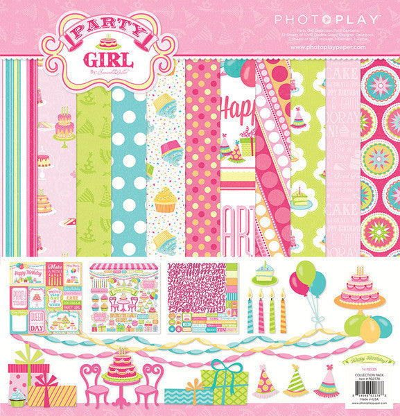Photo Play Party Girl Collection Pack - Shop and Crop Scrapbooking