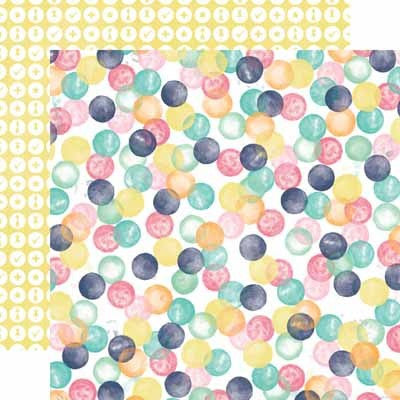 Watercolor Dots Paper- Creative Agenda - Shop and Crop Scrapbooking
