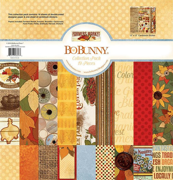 BoBunny - Farmers Market Collection - 12 x 12 Collection Pack - Shop and Crop Scrapbooking