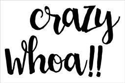 Kinder Kreations - CRAZY WHOA Chipboard - Shop and Crop Scrapbooking