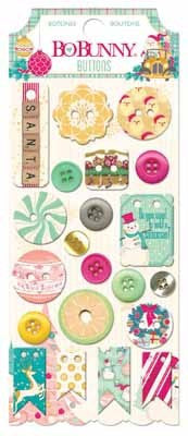 Candy Cane Lane Buttons - Shop and Crop Scrapbooking